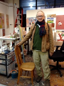Jack King in his studio—with his new muse.