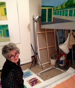 Adrianne Lobel in her studio.